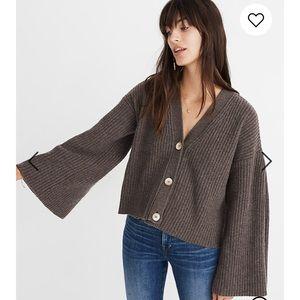 Madewell Wide Sleeve Crop Cardigan